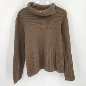 Blue Willi's taupe tan cotton sweater L